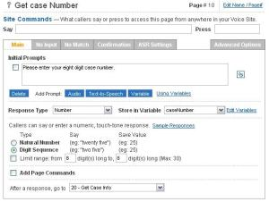 Get Case Info Page