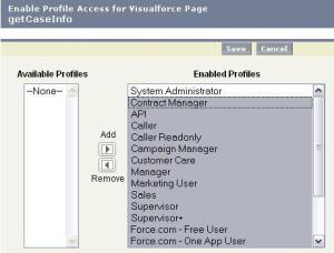 Setting VisualForce Page Permissions