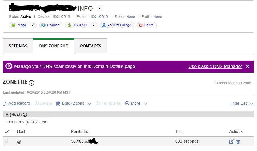 Simple DNS Config